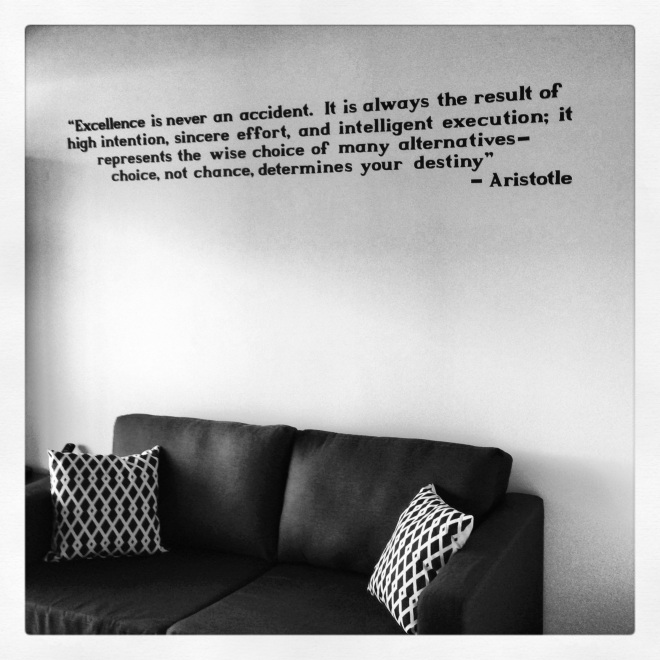 DIY Vinyl Wall Quote - The EGG