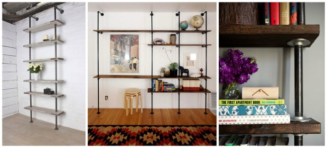 Plumbing Pipe Bookshelf - The EGG
